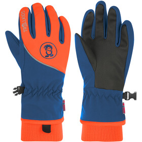 TROLLKIDS Trolltunga Gloves Kids mystic blue/orange